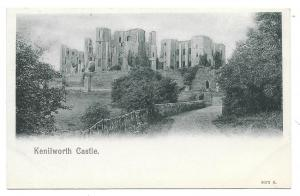 UK Kenilworth Castle Vtg Peacock UDB Lithograph Postcard