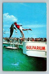 Fort Walton Beach FL- Florida, Gulfarium, Ramp, Dolphin, Chrome c1970 Postcard
