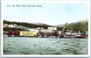 Ketchikan, Alaska Postcard The Waterfront Docks / City View HHT c1920s Unused