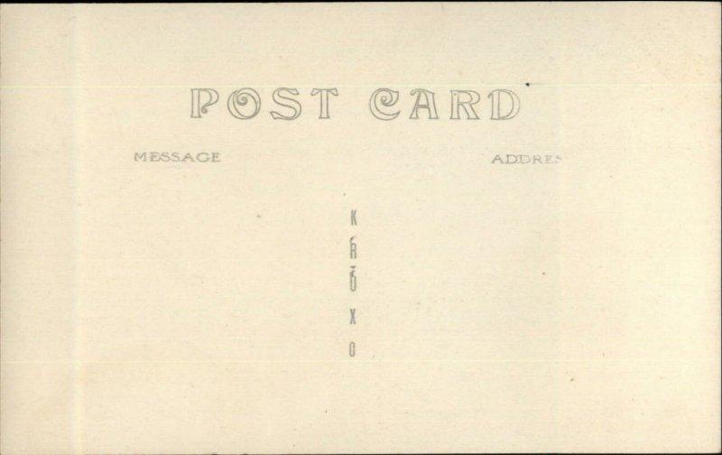 Wayne ME Pocasset Lake c1910 Real Photo Postcard
