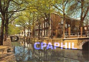 Modern Postcard Delft. De Oude Delft
