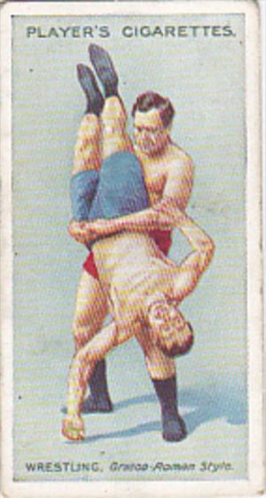 Cigarette Card Player and Sons Wrestling & Ju-Jitsu 1913 No 3 The Creel Hold