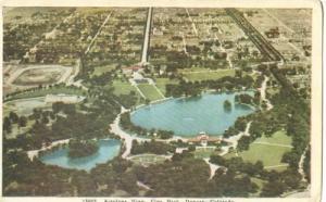 Airplane View, City Park, Denver, Colorado, 1930s unused ...