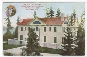 New York State Building AYPE Alaska Yukon Pacific Exposition Seattle WA postcard