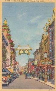 SAN FRANCISCO, California, 1930-40s; Street Scene, CHINATOWN