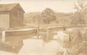 F62/ Peninsula Ohio RPPC Postcard c1910 Lonesome Lock Ohio Canal