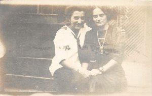 G80/ RPPC Postcard c1910 Lesbian Gay Interest Women Holding Hands 23