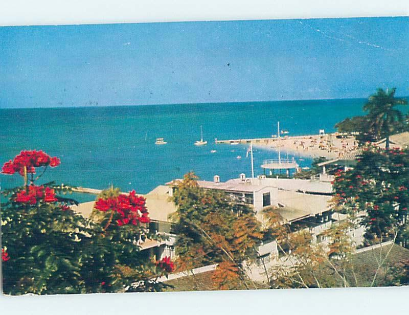 Pre-1980 VIEW FROM HACTON HOUSE HOTEL Montego Bay Jamaica F6511