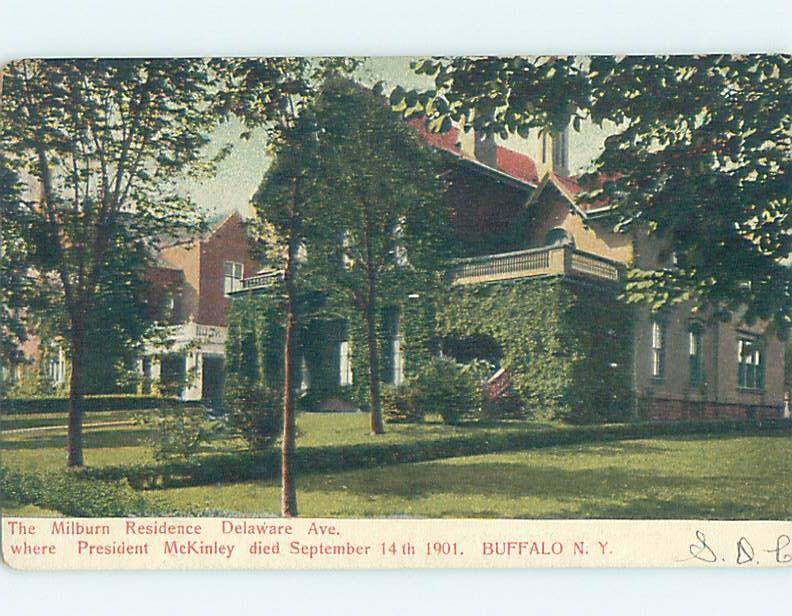 Pre-1907 HOUSE WHERE PRESIDENT MCKINLEY DIED Buffalo New York NY A2868