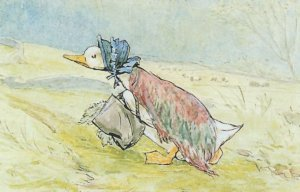 The Tale Of Jemima Puddle Duck Beatrix Potter 1908 Book Postcard