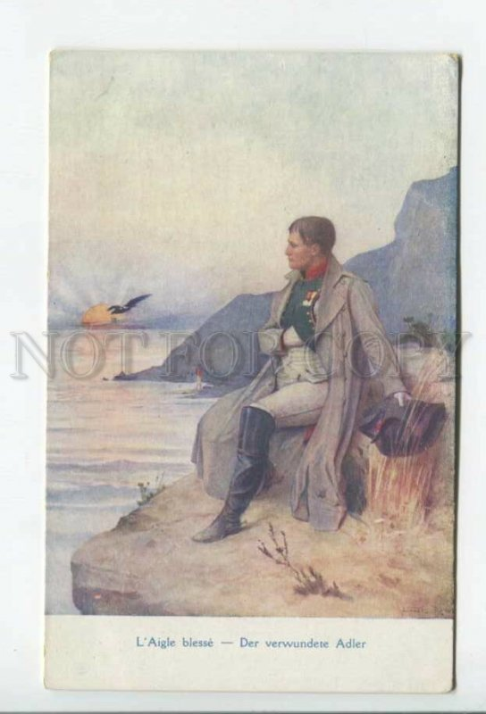 431745 NAPOLEON 1812 WAR wounded EAGLE Vintage postcard