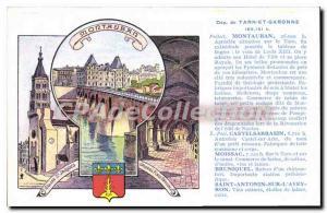Old Postcard Montauban Pleasant Location Castelsarrasin Moissac Bruniquel