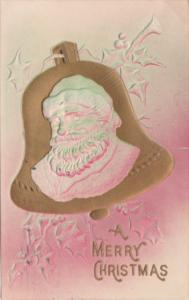 Christmas Santa Claus On Gold Bell 1907