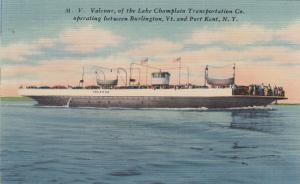 LAKE CHAMPLAIN, New York; Ferry M.V. VALCOUR , 1930-40s