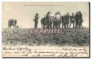 Old Postcard Army Major Maneuvers d & # 1902 39armees L & # 39Etat Major 17th...