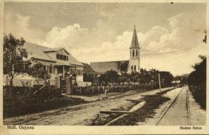 suriname, PARAMARIBO, Saron Railway Station (1910s)