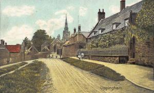 Uppingham Street Houses Church Tower Postcard