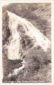 Alaska Horsetail Falls Keystone Canyon Real Photo