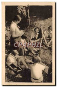 Old Postcard Scout Scout Jamboree In The Girl Scouts den mother speaks