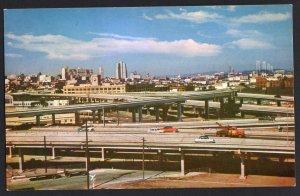 California SAN FRANCISCO Freeway Interchange U.S. 101 shows 7 Traffic Arteries