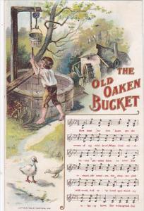 Music Card The Old Oaken Bucket 1908