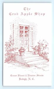 Postcard NC Raleigh The Crab Apple Shop Gifts Antiques Arts & Crafts R71
