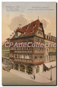 Old Postcard Strasbourg Alsace Old house near the Cathedrale