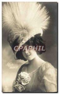 Postcard Old Fashion 1909 Woman Hat
