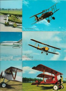 Aviation Fiat CR 32, Boeing 737 City Jet and more Postcard Lot of 40 BS.01