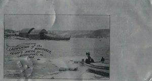 BUCKSPORT , Maine , 1905; Launch of Perry's Arctic Ship ; Aluminum