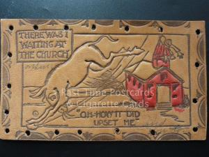 American Leather Postcard: THERE WAS I WAITING AT THE CHURCH... c1906