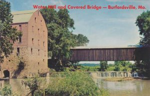 Water Mill and Covered Bridge at Burfordville, Missouri MO