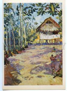 153516 OCEANIA Papua New Guinea Village Bongu after tropical