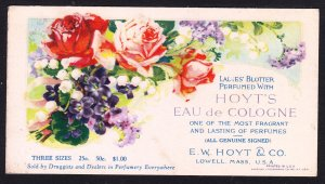 E.W. Hoyt – Lowell MA – Eau de Cologne blotter