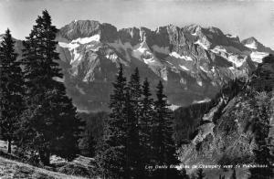 Switzerland Les Dents Blanches de Champery vues de Planachaux Mountain Postcard