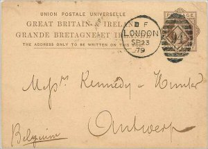 Entier Postal Stationery Postal Great Britain Great Britain 1879 London to An...