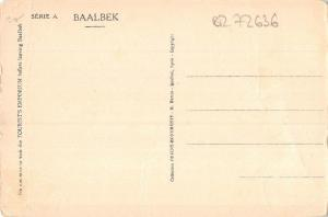 BR72636 les temples de jupiter et de bacchus  baalbek syrie syria