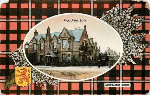 Roslin Midlothian Scotland~Royal Hotel~Cameron of Lochiel Plaid~Heather~1908 PC