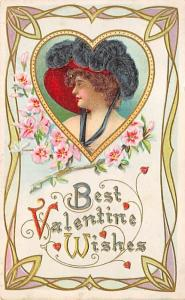 Valentines Day Writing on back missing top left corner