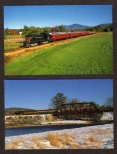NH Lot 2 Train Railroad CONWAY NEW HAMPSHIRE Postcards