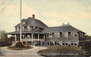 Winslow Maine Taconnet Club House Waterville Exterior Antique Postcard K14437