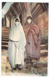 Femmes Arabes Voilees Arab Women in Veils ca 1910 Algiers