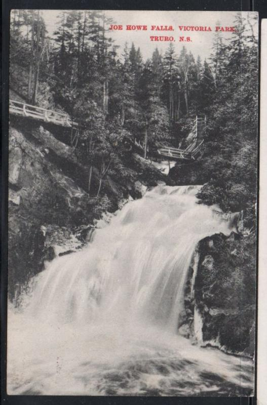 Black & White  PC Joe Howe Falls, Truro, N.S. used 1909