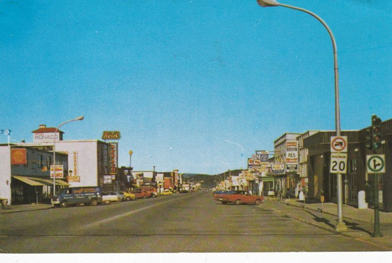 CHIBOUGAMAU, Quebec, Canada, 1988, Third Street, Heart of the Business District