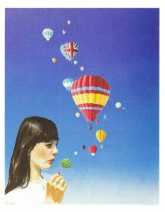 Art Postcard, I'm forever blowing....balloons? by Mark Pacan No.1 24Z