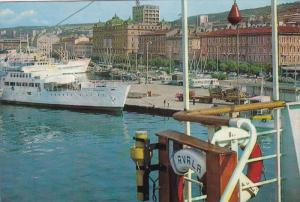 RIJEKA, Croatia, PU-1983; Harbour, Ships, Bus, Classic Cars