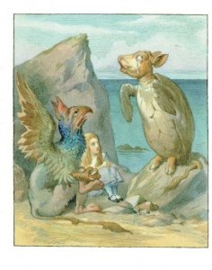 Mock Turtle Alice Through The Looking Glass 1911 Book Postcard
