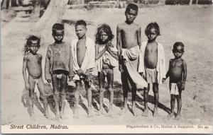 Street Children Madras Chennai India Higginbotham Unused Postcard E39
