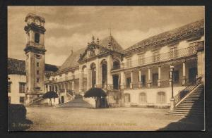 University Tower & Latin Way Coimbra Portugal unused c1920's