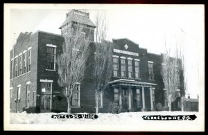 dc1286 - TERREBONE Quebec 1940s City Hall. Real Photo Postcard